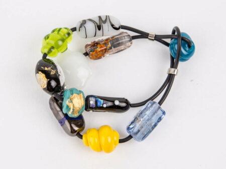 Evelyn Henschke 2 Strand Glass Bead Bracelet