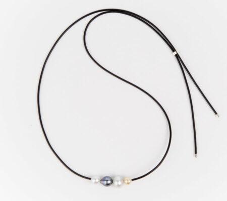 Evelyn Henschke 4 Pearl Adjustable Necklace