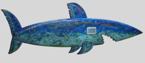Gabe Heusso Harpoon Shark Wall Sculpture