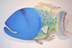 Gabe Heusso   Ol Blue Fish Wall Sculpture Fine Art
