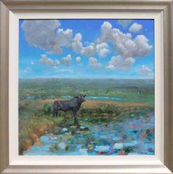 Helen Norton Angus Painting framed 247x249