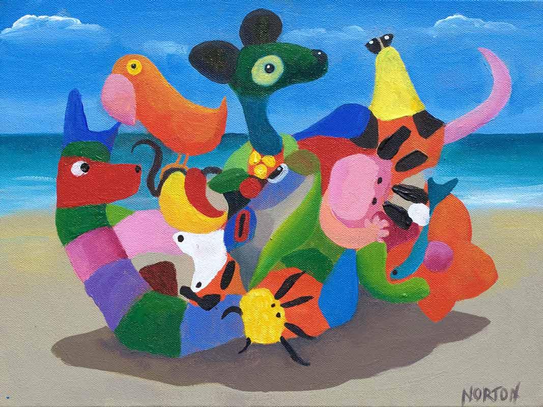 Helen Norton Beach Party Painting