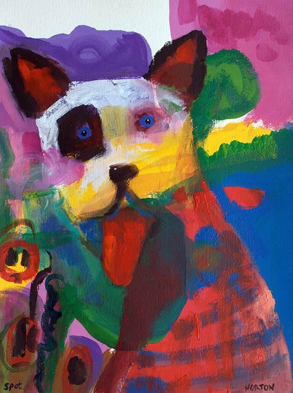 Helen Norton Big Puppy Spot Painting