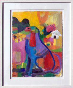 Helen Norton Doofa painting framed 247x295