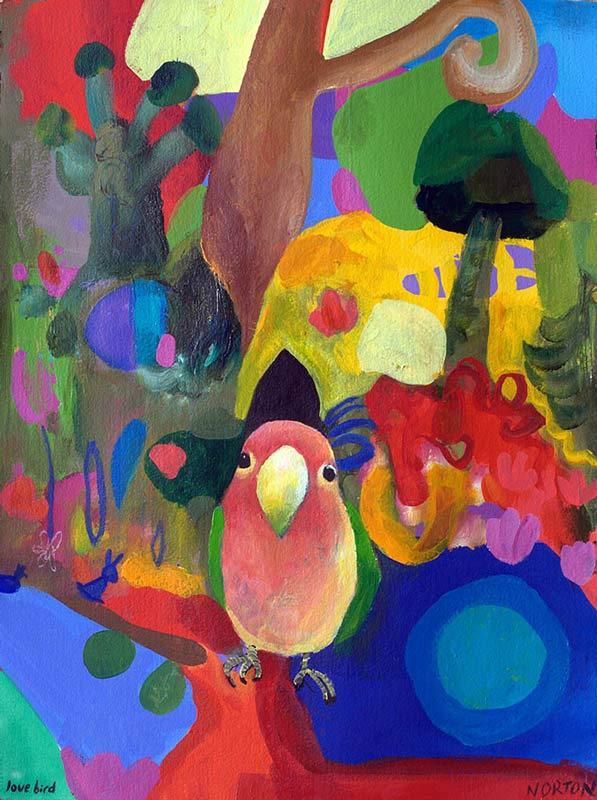 Helen Norton Love Bird Painting