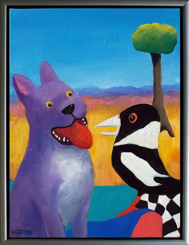 Helen Norton - Purple Dog With Magpie • Fine Furniture Design | Fine ...