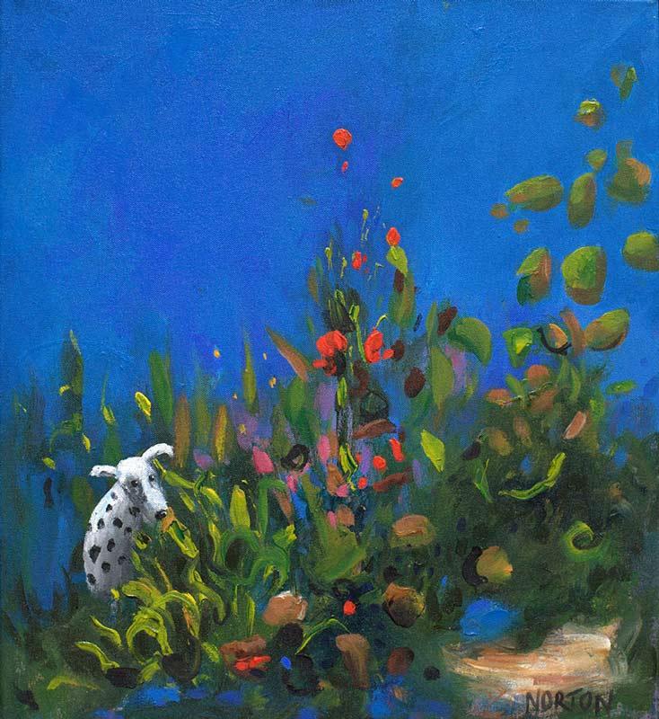 Helen Norton Sue Dog Painting