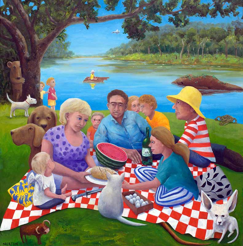 Helen Norton The Picnic Painting