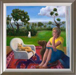Helen Norton The Veranda painting framed 247x245