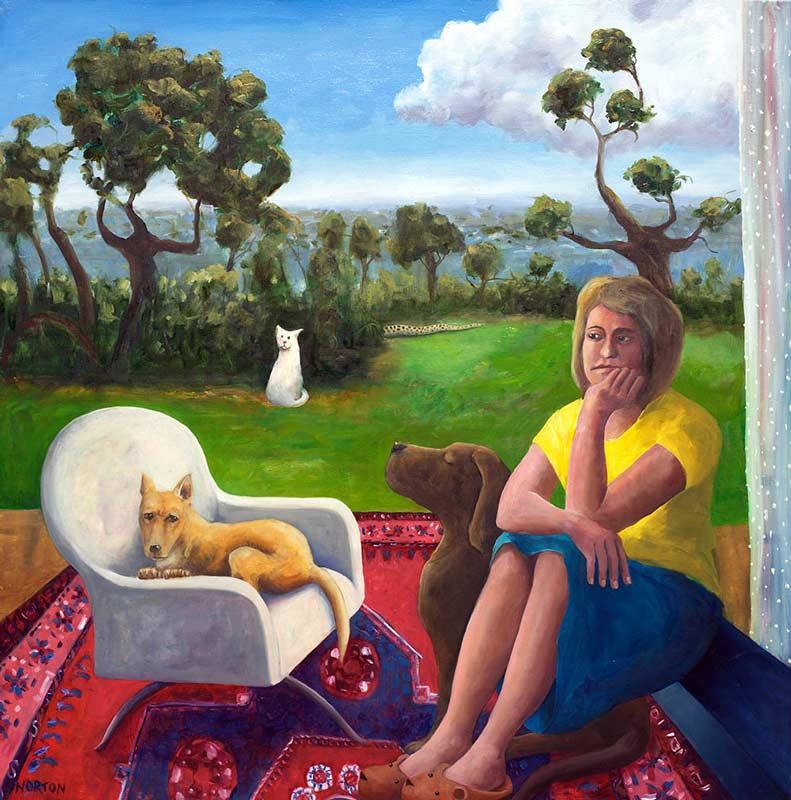 Helen Norton The Veranda Painting