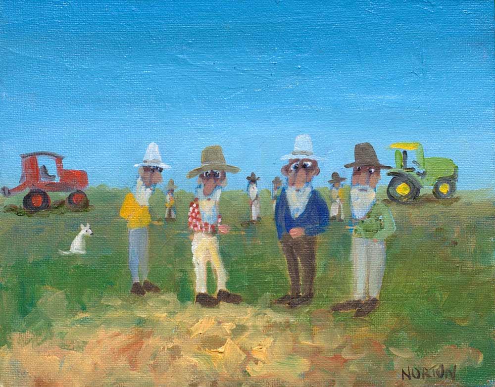 Helen Norton Tractor Show Painting