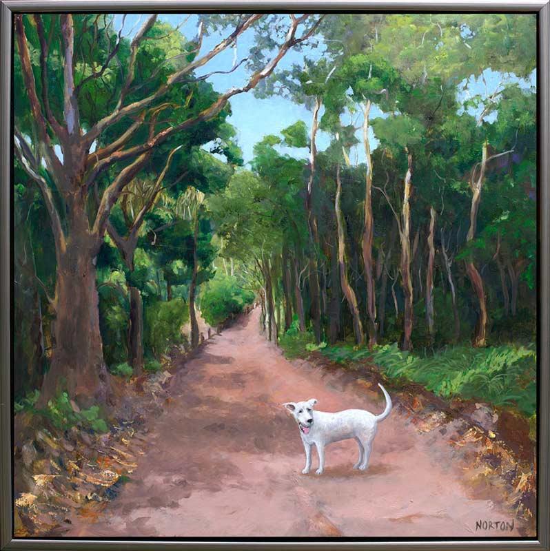 Helen Norton - White Dog On Forest Track • Fine Furniture Design ...