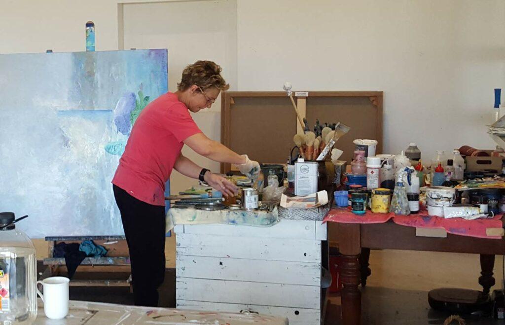 Helen Norton In The Studio