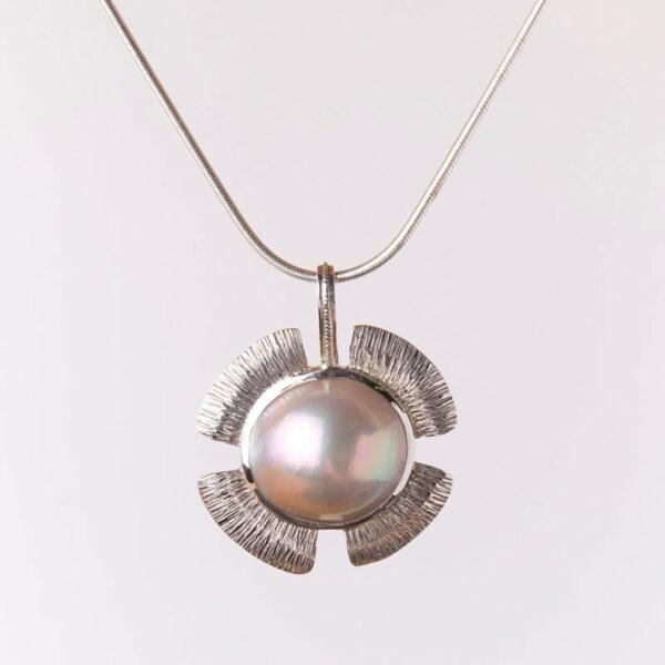 Jane Liddon Mabe Flower Pearl Pendant 1
