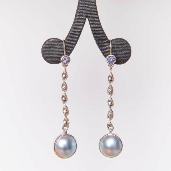 Jane Liddon Mabe Pearl Spinel Earrings