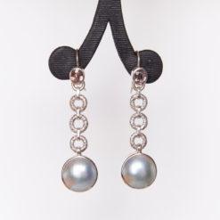 Jane Liddon   Pearl & Tourmaline Earrings Fine Art