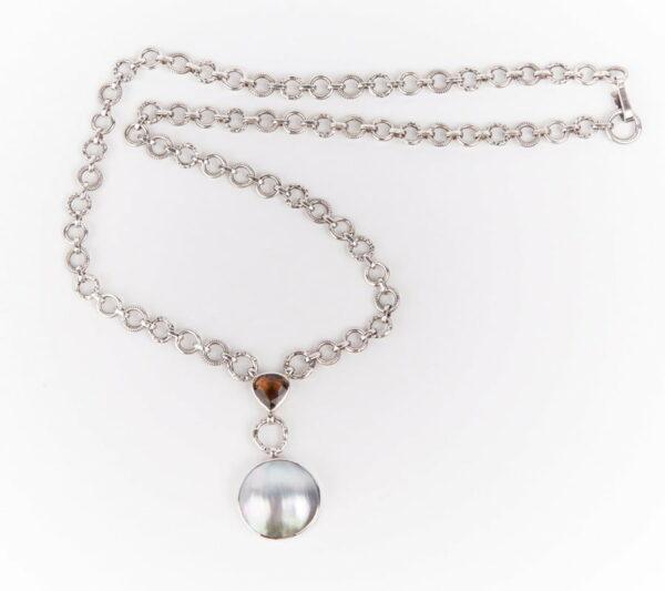 Jane Liddon Mabe Pearl Tourmaline Necklace
