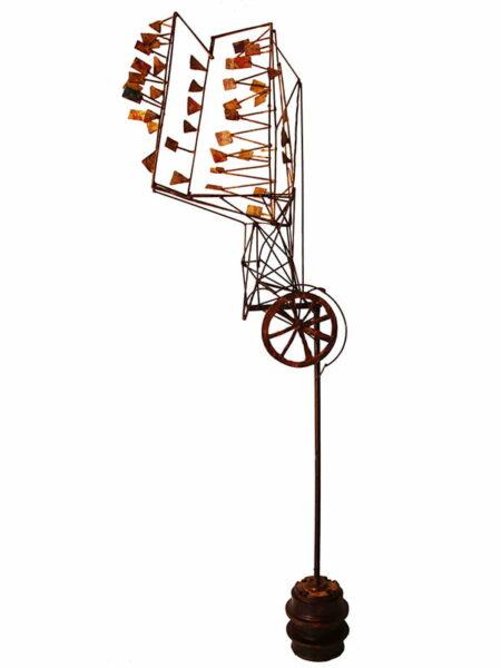 Jon Denaro Alveoli Pump Action The Stuff That Each Breath Drives The Flower Sculpture