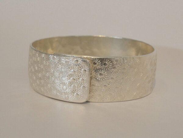 Michelle Gauntlett Silver Flowers Adjustable Bracelet