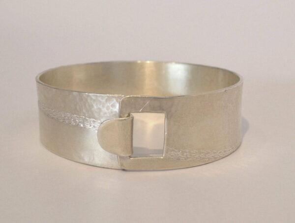 Michelle Gauntlett Silver Hammered Bracelet