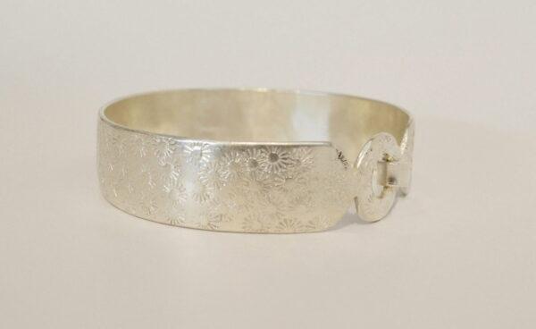 Michelle Gauntlett Silver Round Clasp Bracelet