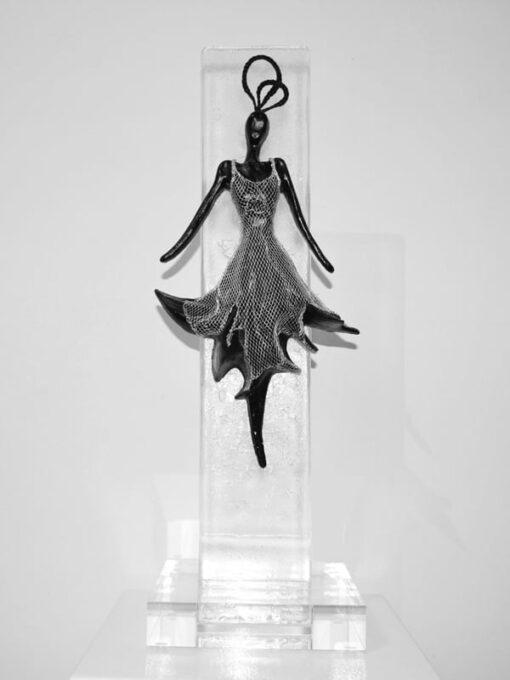 Nadia Kesic The Dress Moonlight F Glass Sculpture