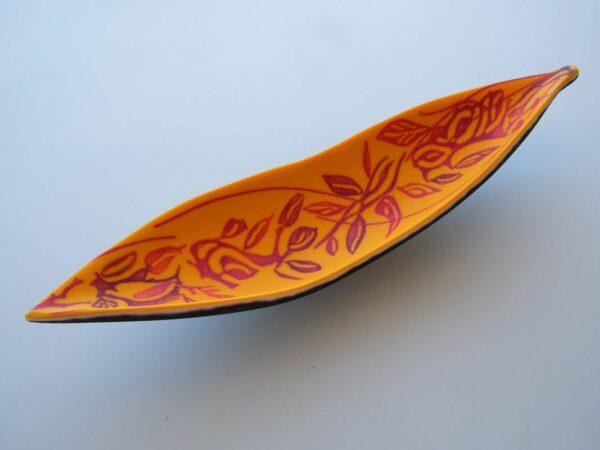 Vivienne Jagger Orange Seapod Artglass