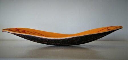 Vivienne Jagger Orange Seapod Artglass Side