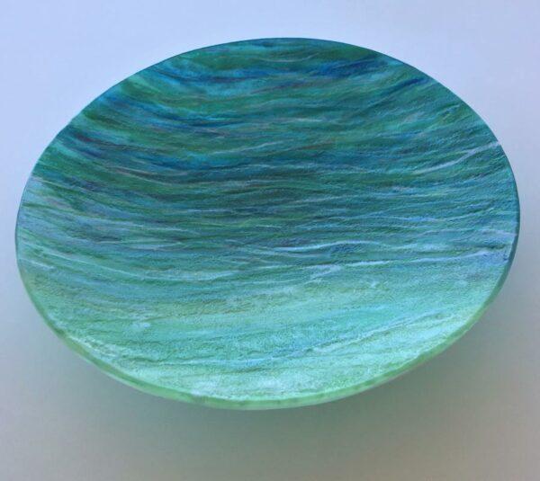 Vivienne Jagger Seascape Glass Bowl Angle