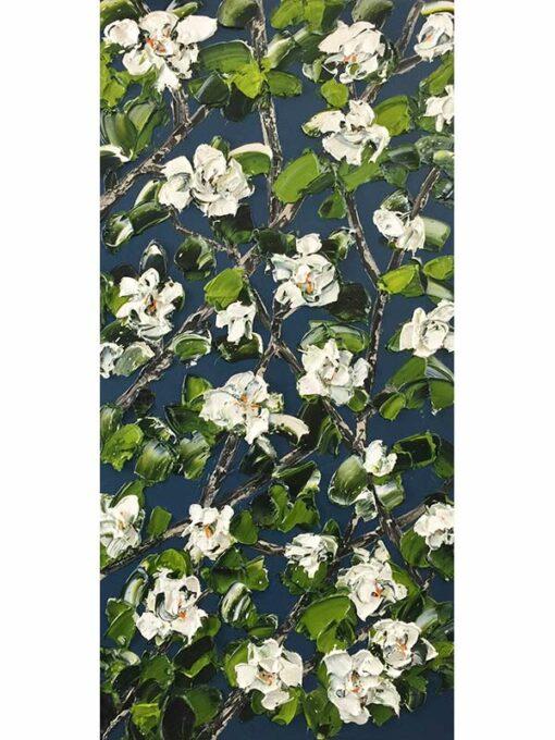 Felicia Aroney Magnolias In Bloom Painting