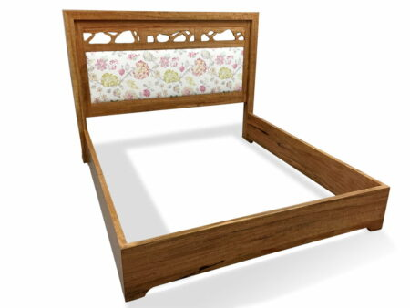 Filigree Bed With Upholstered Headboard