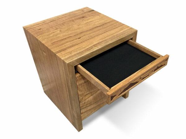 Filigree Design Bedside Cabinet Drawer Open