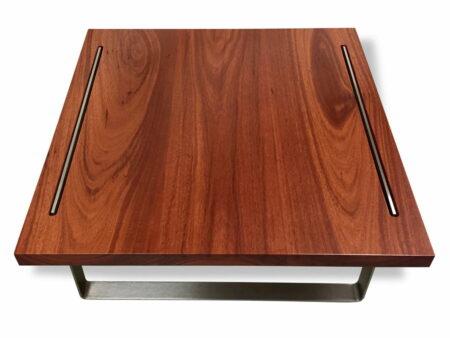 Reef Square Coffee Table Jarrah Timber Top