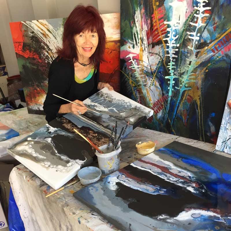 Astrid Dahl Artist In Action At Jahroc Galleries Copy 2