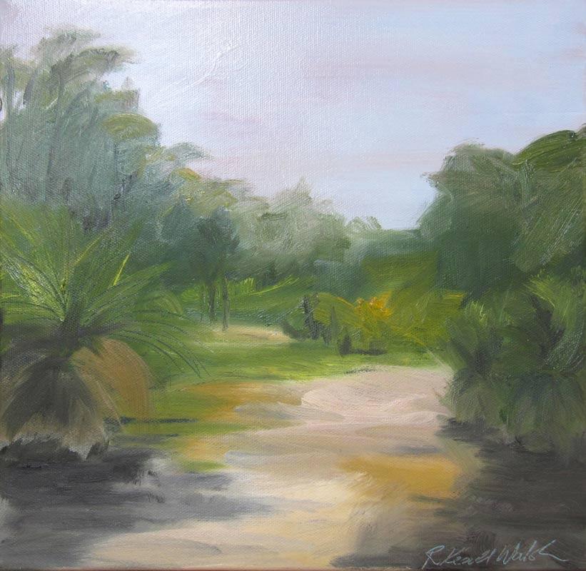 Rowena Keall Walsh Grass Tree Bushland Painting