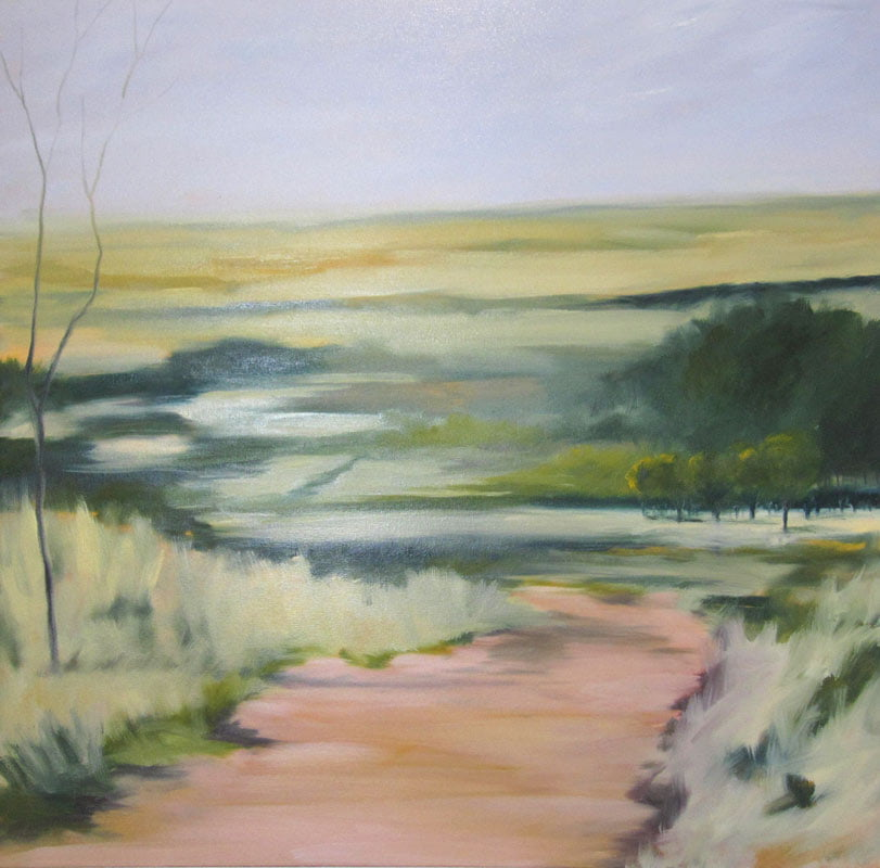 Rowena Keall Walsh Looking Over The Avon Valley Painitng