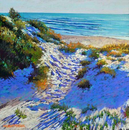 Shirley Fisher Autumn Beach Painting
