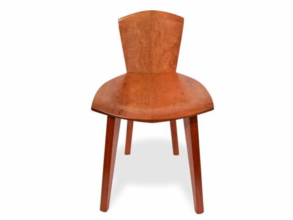 Designer Wooden Guitar Chair Front