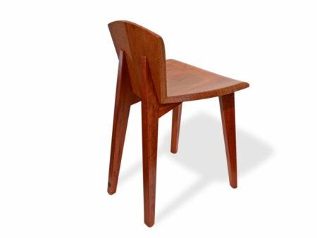Designer Wooden Guitar Chair Side