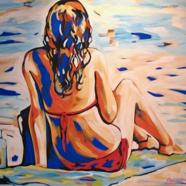 Shannon Hamilton Sitting Pretty Painting