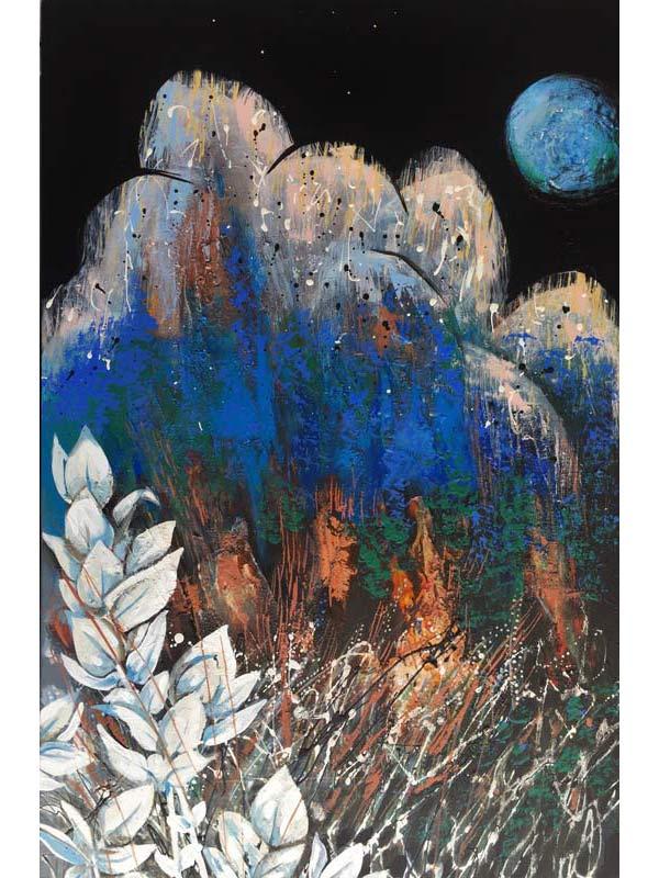 Astrid Dahl One Blue Moon Night Painting