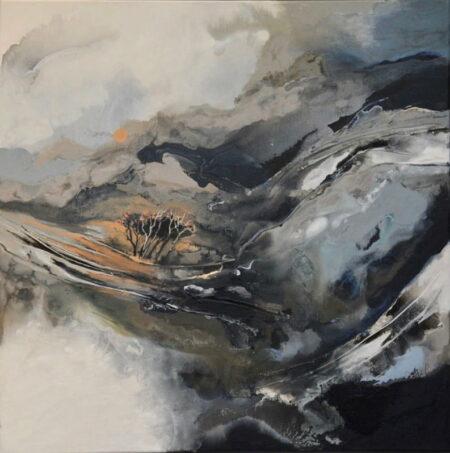 Astrid Dahl Silently The Sun Rises Painting 2