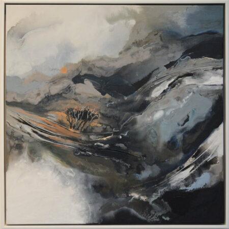 Astrid Dahl Silently The Sun Rises Painting Framed