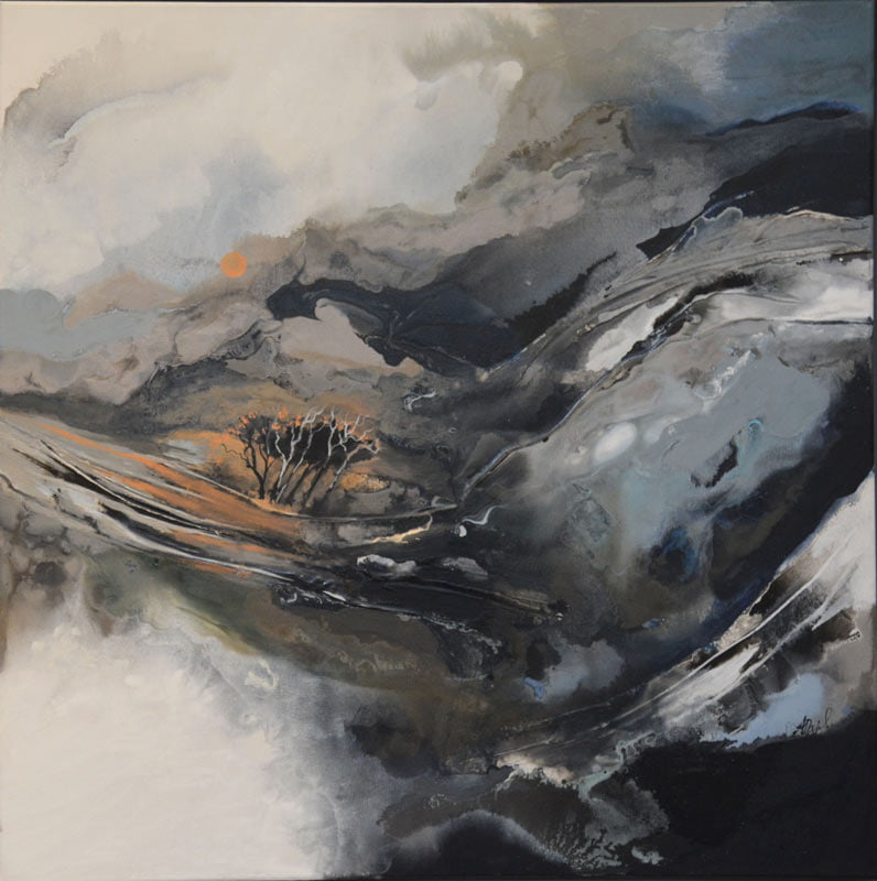 Astrid Dahl Silently The Sun Rises Painting