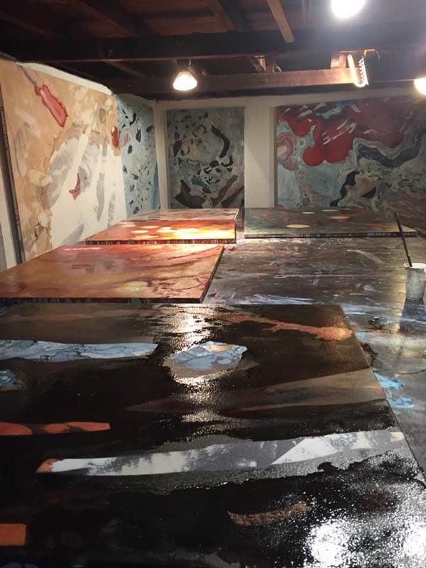 Bec Juniper Studio Paintings Up Close And Personal 2