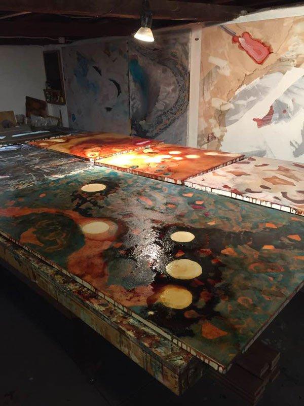 Bec Juniper Studio Paintings Up Close And Personal