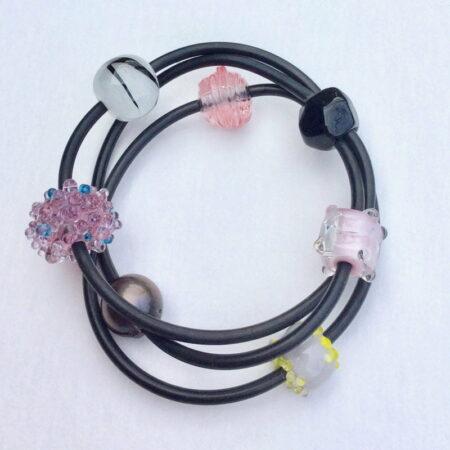 Evelyn Henschke 3 Strand Bracelet Pink Pearl
