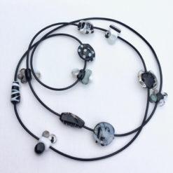 Evelyn Henschke   Polka Dot Glass Bead Necklace Fine Art