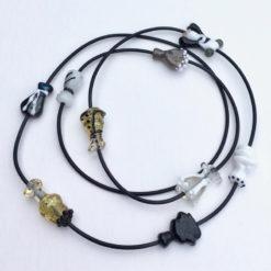 Evelyn Henschke   Brown Dress Glass Bead Necklace Fine Art