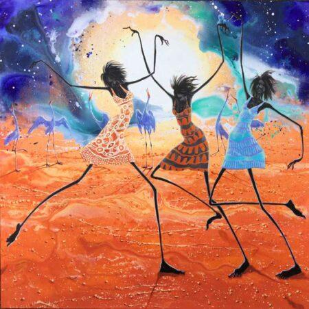 Judy Prosser Dancers Under A Desert Moon Painting
